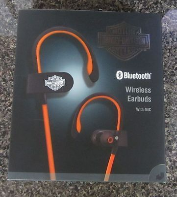 New 2017 Harley Davidson Bluetooth Wireless Earbuds W Mic Misc For