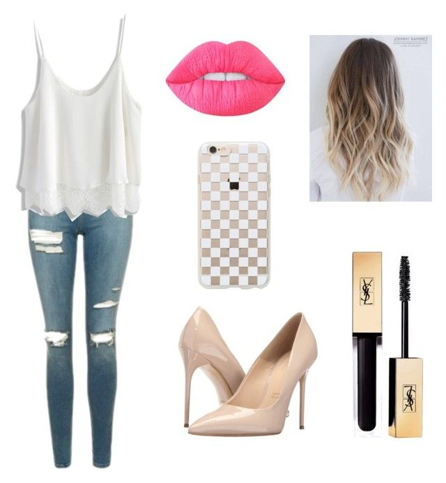 """""""Sin título #72"""" by lucy672 on Polyvore featuring moda, Topshop, Chicwish, Massimo Matteo, Yves Saint Laurent, Rifle Paper Co y Lime Crime"""