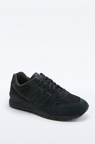 online store 662a6 9b22b New Balance 996 All Black Running Trainers | Shoes ...