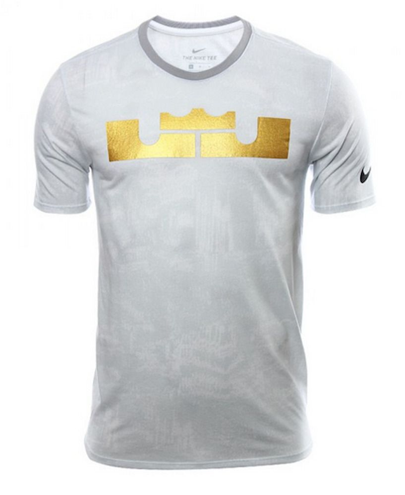 d8f6b95a09713 LEBRON BY NIKE PLAYER DRI-FIT WHITE GRAPHIC T SHIRT MENS SMALL NWT ...