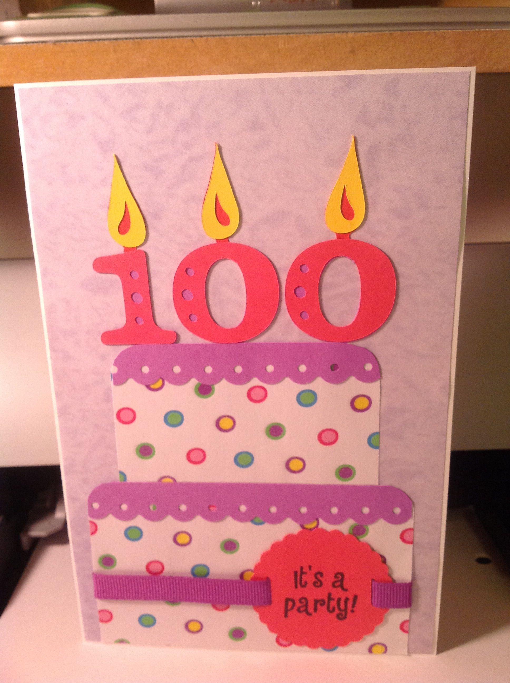 100 Years Birthday Card Old Birthday Cards 100th Birthday Card Birthday Card Messages