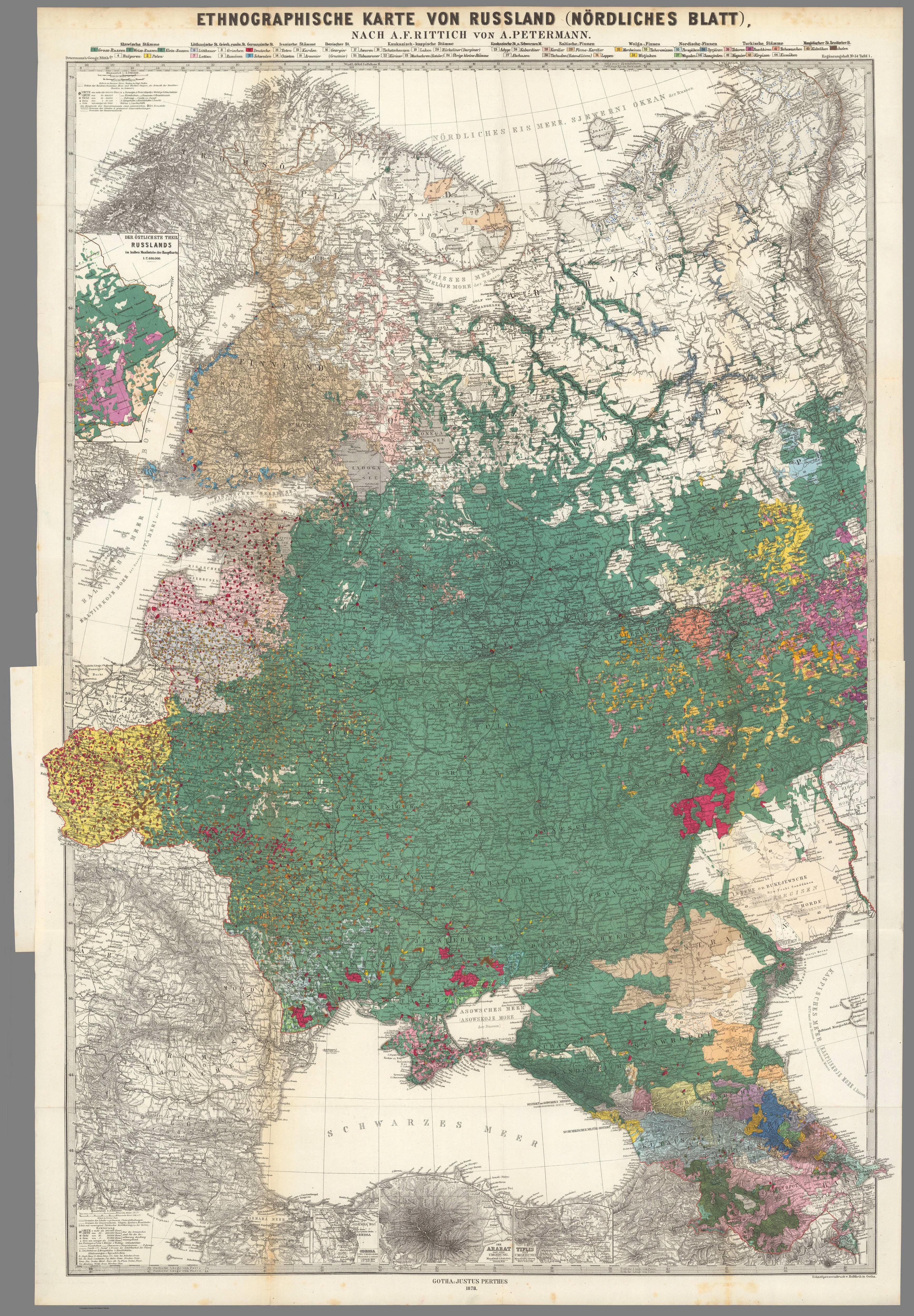 1878 Ethnographic map of Russia in Europe Sublime Maps