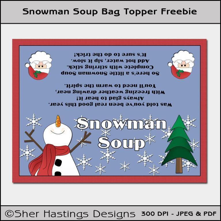 Christmas Party Name Ideas Part - 44: (8) Name: U0027Paper Crafts : Snowman Soup Bag Topper