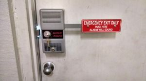 We installed a detex emergency alarm exit device on a commercial store rear exit door in & We installed a detex emergency alarm exit device on a commercial ...