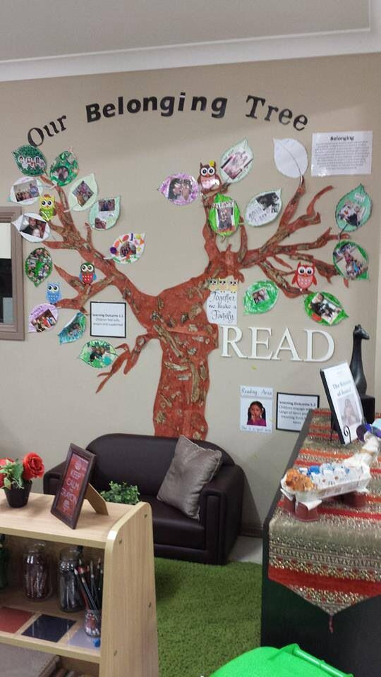 I Like The Tree On The Wall There Are Many Ideas You Can Do With It Family Day Care Childcare Rooms Childcare
