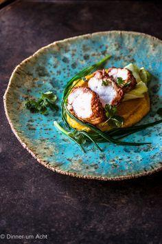 Tandoori Seeteufel mit karamellisiertem Spitzkohl und himmlischem Kurkuma-Linsenpüree - Dinner um Acht