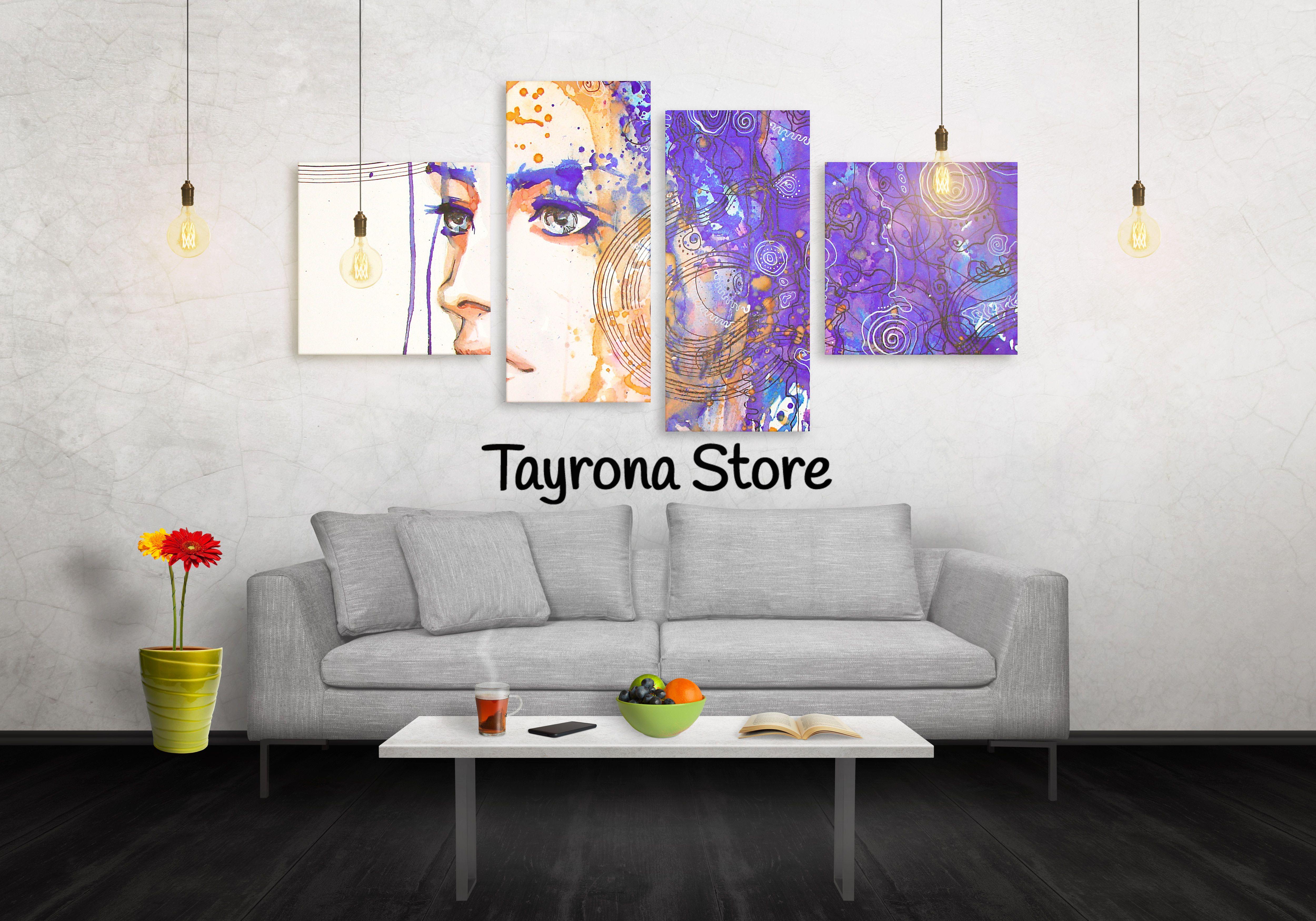 Cuadros Decorativos cara-mujer-art-33 #tayronastore,#cuadros ...