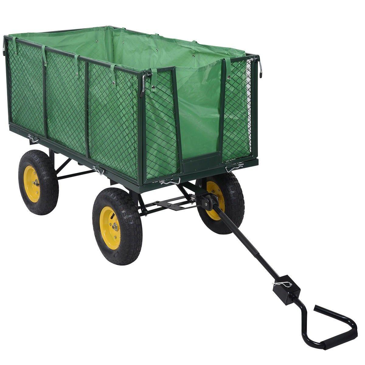 Large Collapsible Utility Wagon Garden Cart Shopping Buggy Yard Beach Heavy  Duty   Lawn U0026 Garden