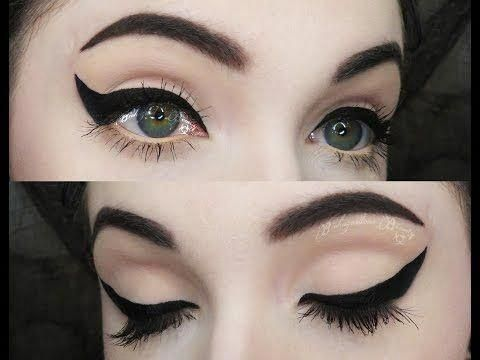 How To: Dramatic Winged Liner [w/ Gel Eyeliner] - YouTube #Wingedliner #wingedliner