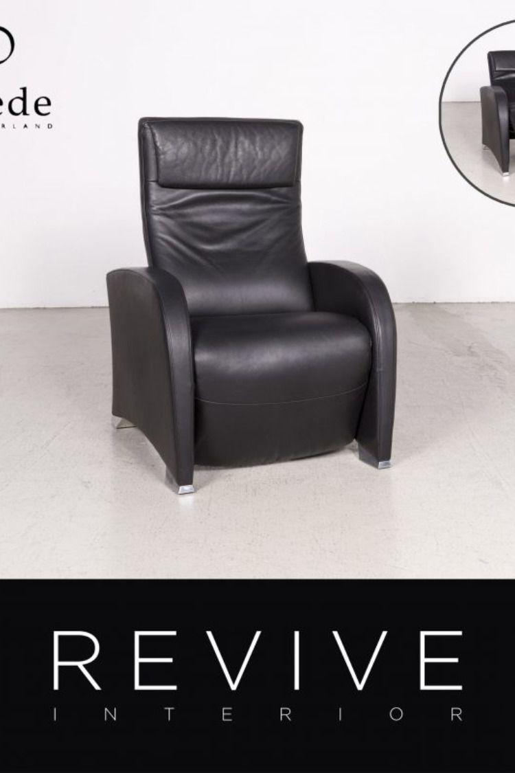 De Sede Designer Leder Sessel Schwarz Echtleder 7627 Sofa