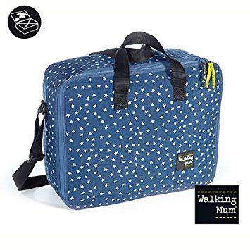 Walking Mum  - Maleta clínica  denim baby azul (39€)
