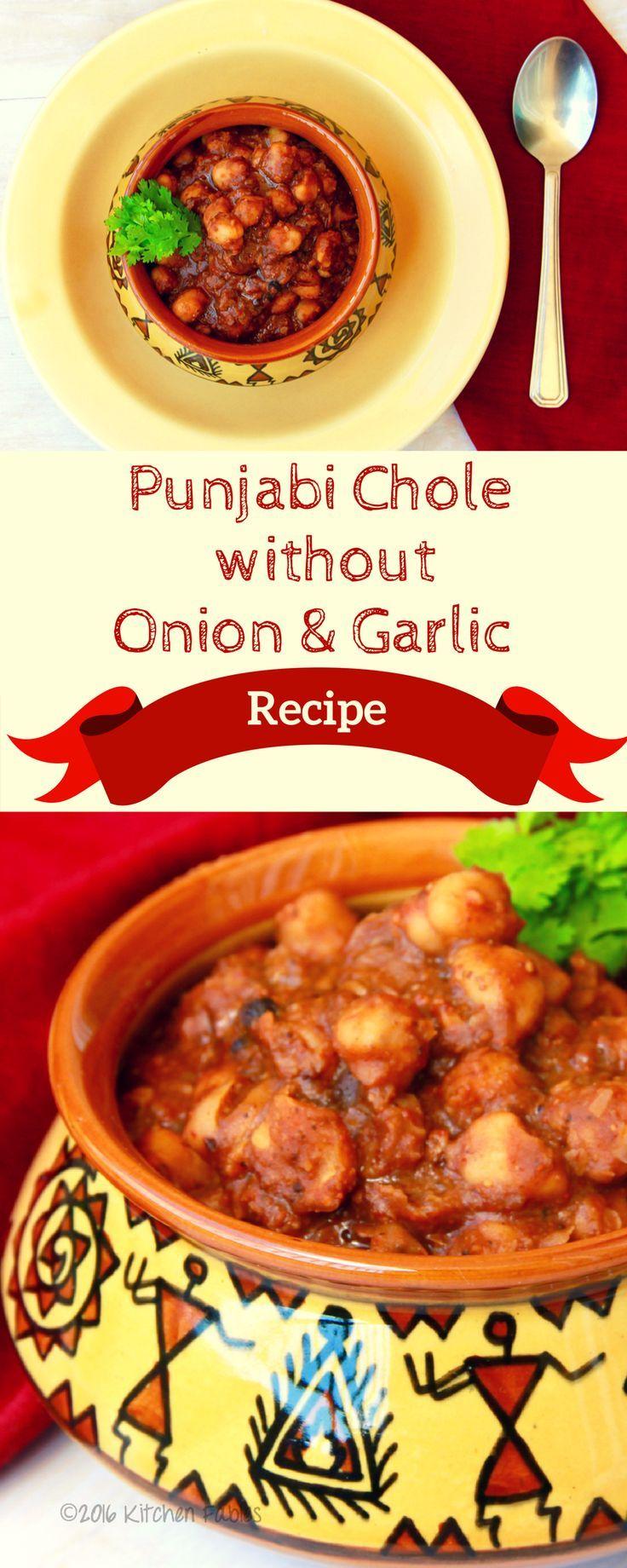 Punjabi chole without onion garlic recipe onions garlic and recipe for punjabi chole saffed chane without onion garlic forumfinder Images