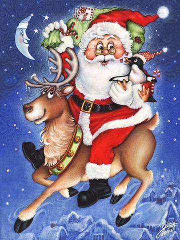 Santa's Mail Run | Christmas | Pinterest | Christmas illustration ...