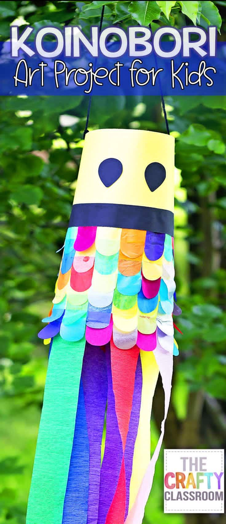 Japanese Carp Kite Craft For Kids