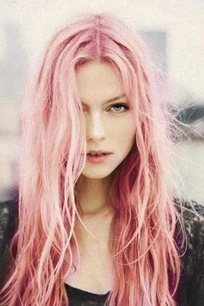 #Hairstyle color - long pink hair