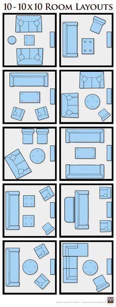 10x10 Bedroom Layout Ikea: 10 10x10 Living Room Layouts