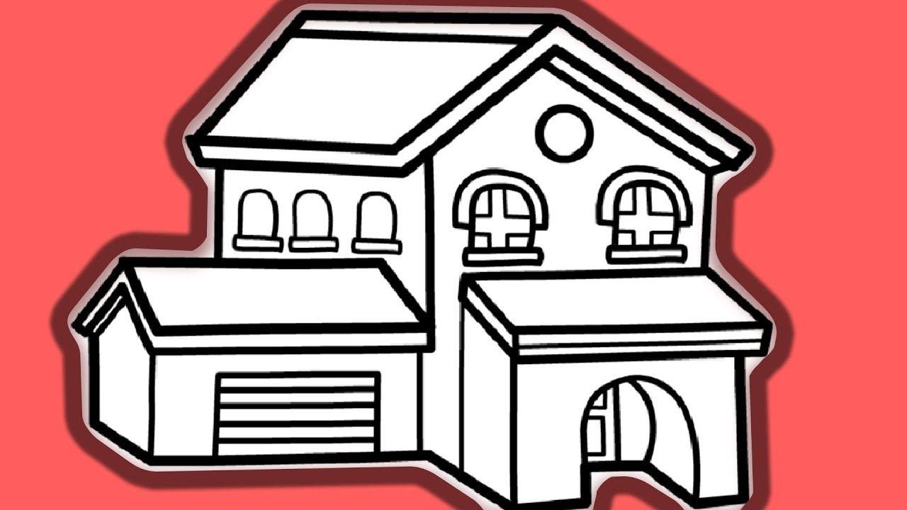 Malvorlage Haus Einfach - ein Bild zeichnen