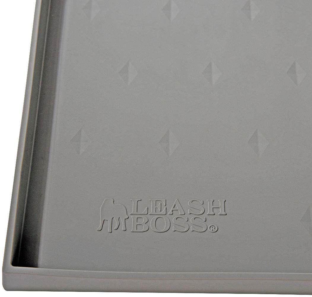 Leashboss splash mat xl dog food mat with tall lip 25x17