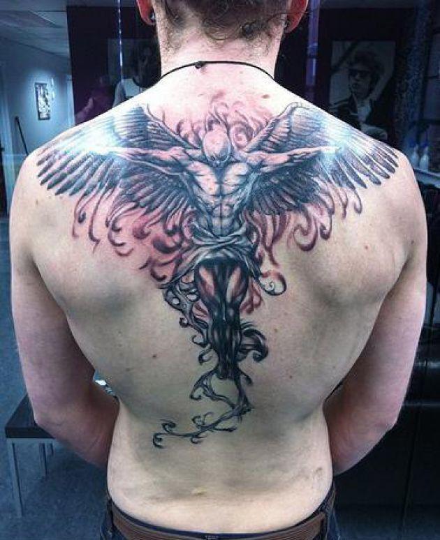 tatouage ange homme 4 tatouage pinterest tatouage ange anges et tatouages. Black Bedroom Furniture Sets. Home Design Ideas