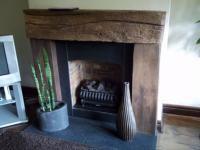 Railway Sleeper Fire Surround Fireplace Home Fireplace Fire