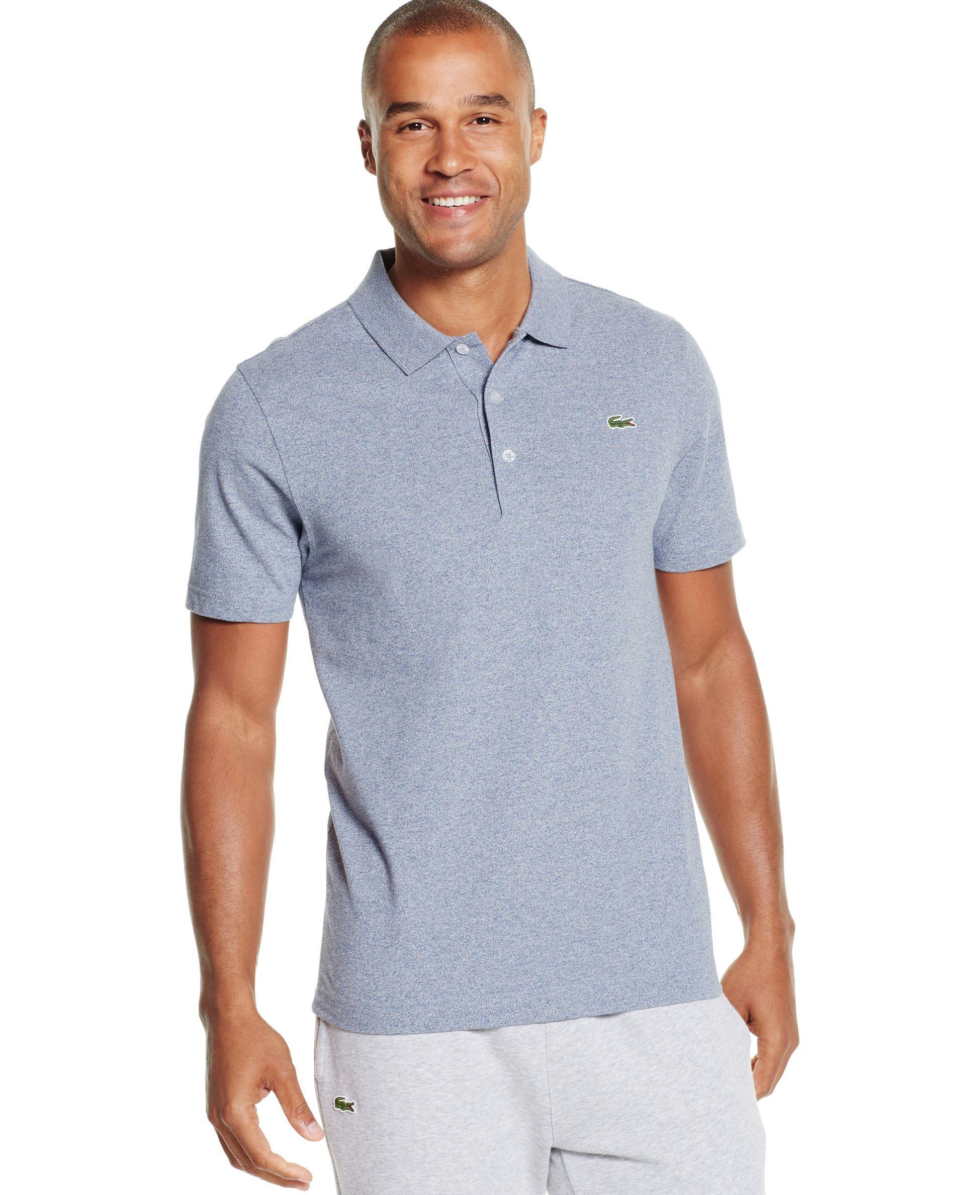 be25e66a87a Lacoste Sport Pocket Polo T Shirt Blue