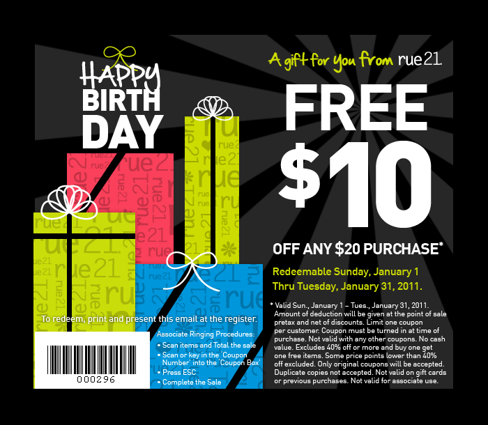 image about Rue 21 Printable Coupon known as $10 off $20 at rue21 all thirty day period Exceptional Specials Printable