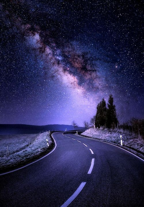 Galactic Road By Johannes Nollmeyer Night Landscape Nature Wallpaper Beautiful Nature