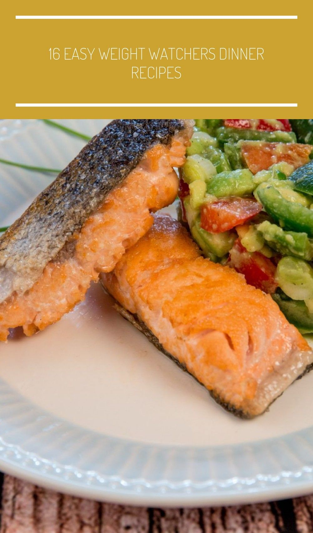 Image result for Fried Salmon and Avocado Salad salad salmon 16 Easy Weight Watchers Dinner Recipes