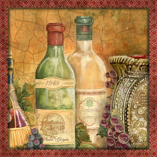 I uploaded new artwork to fineartamerica.com! - \'Tuscan Wine-a ...