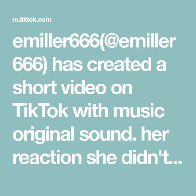 Emiller666 Emiller666 Has Created A Short Video On Tiktok With Music Original Sound Her Reaction She Didn T Know What I W Single Forever The Originals Music