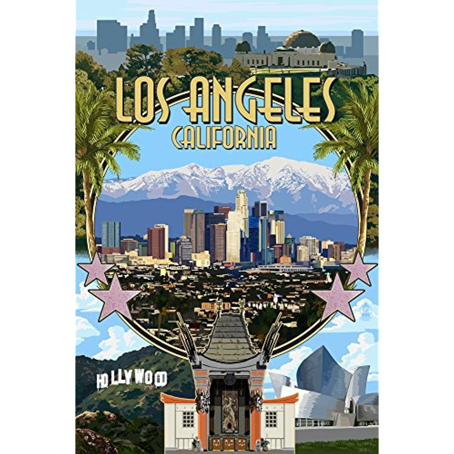 Los Angeles, California Montage (12x18 SIGNED Print