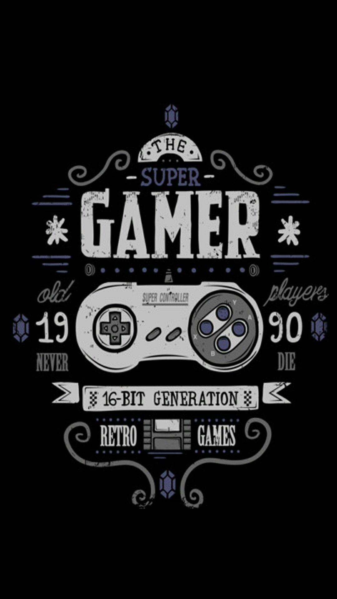 Retro gaming wallpaper