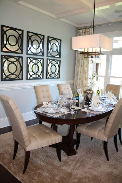 Repeating mirrors - arranged on a wall for a focal point ...