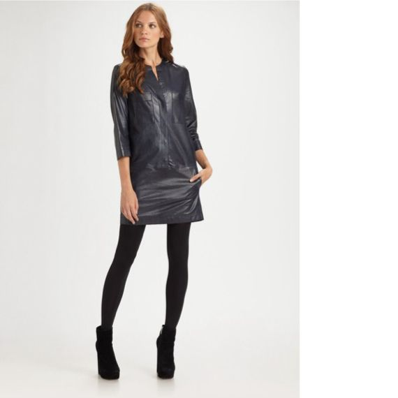 Brand new Vince Tunic Lambskin  leather dress. Great for fall and holiday parties! Size 8.
