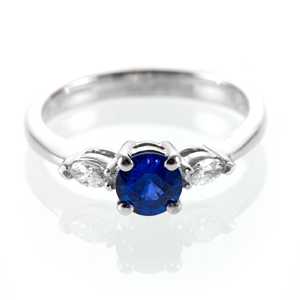 vintage sapphire wedding bands marquise diamond and sapphire engagement ring royal blue