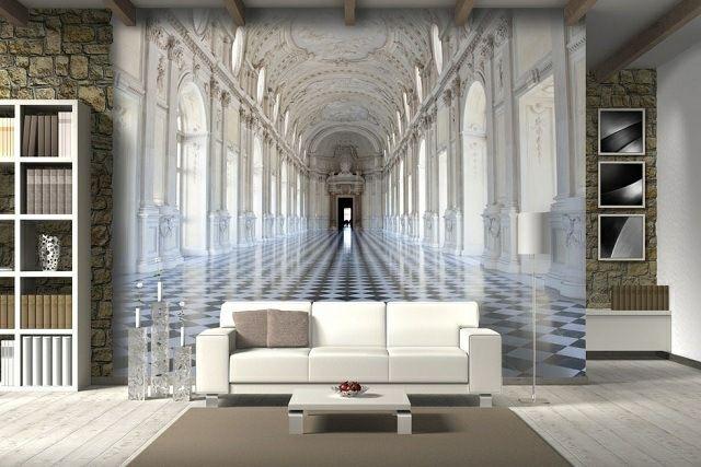 optische Täuschung Wohnzimmer Wandgestaltung Ideen Trampantojo