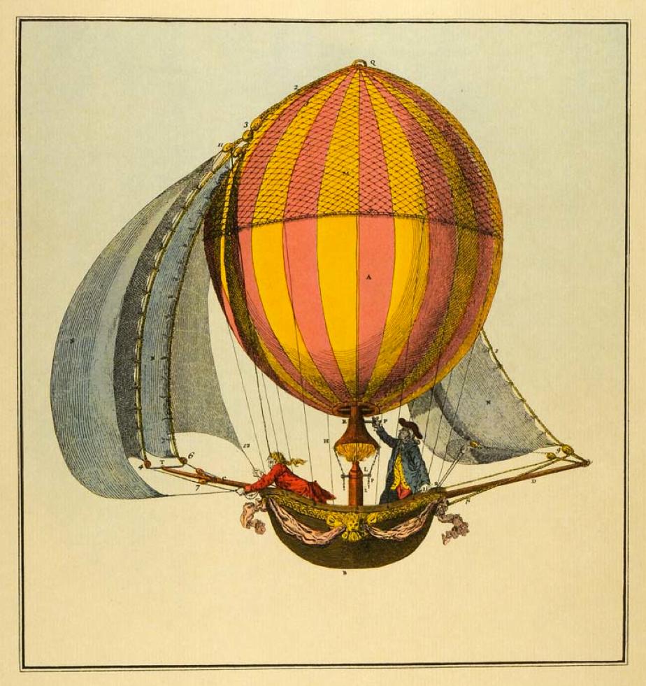 Hot Air Balloon photolithograph.