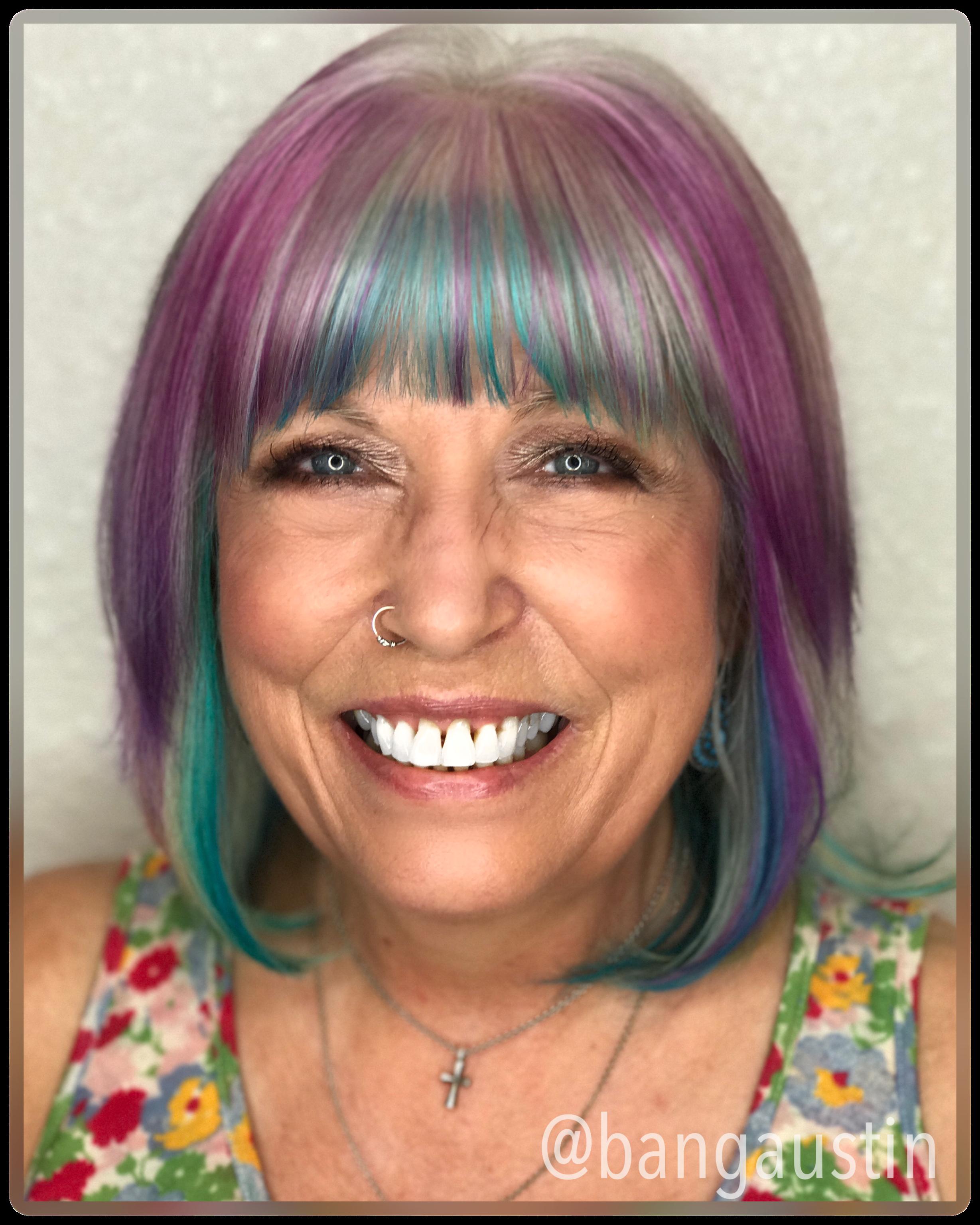Fun fantasy colored hair BangAustin 512 514 1141