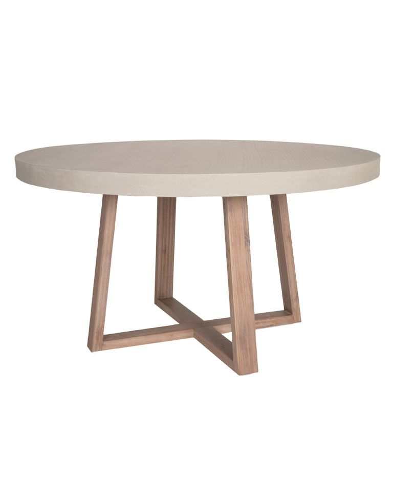 Stoneham 55 Round Dining Table Dining Table Concrete Dining