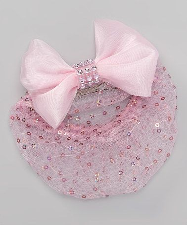 Love this Pink Bow Rhinestone Mesh Snood by Blushing Daisies on #zulily! #zulilyfinds