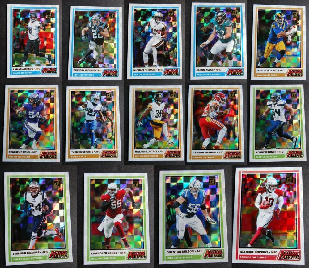 2020 donruss action allpros football cards complete your