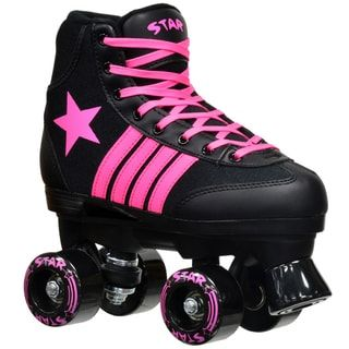 de412bb7644 Shop for Epic Star Vela Black and Pink Quad Indoor  Outdoor High-Top Quad Roller  Skates. Get free delivery at Overstock.com - Your Online Sports   Fitness  ...