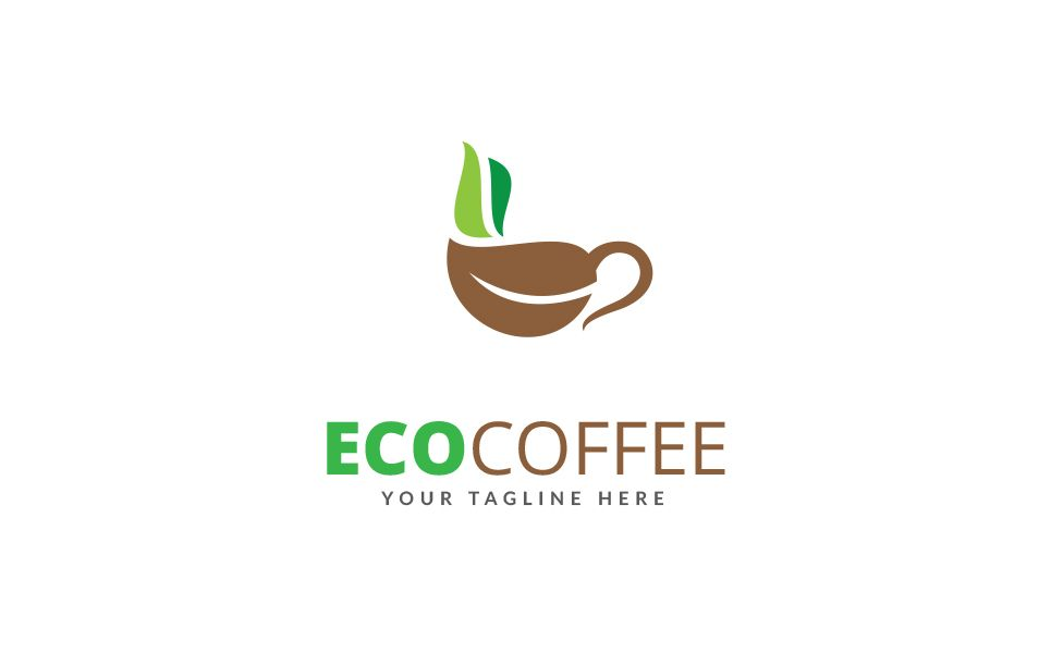 Eco Coffee Logo Template 70438 With Images Coffee Logo Logo