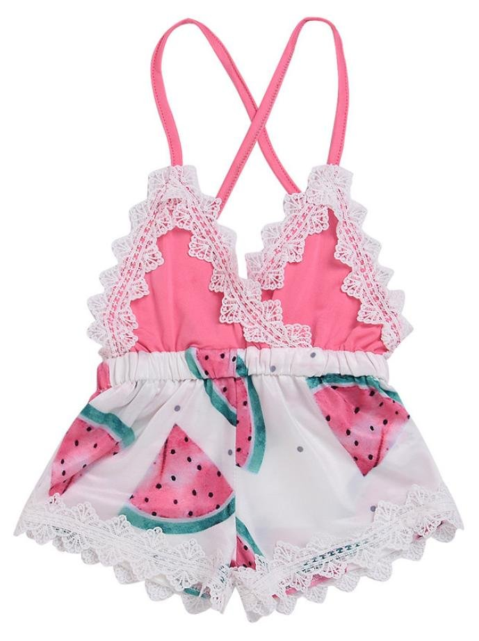 851a412bd6c SHOP Our Watermelon Lace Romper for Baby   Toddler Girls