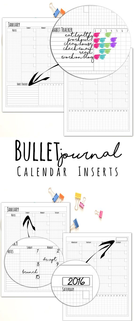 Finally bullet journal printable planner inserts! This one if my FAVORITE love the habit tracker!!