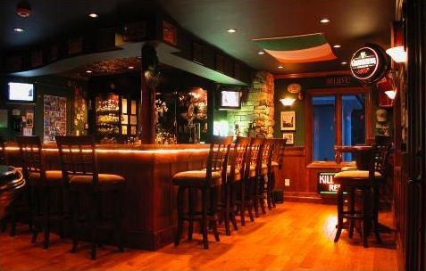 Irish Home Bar Garage Converted To Irish Pub Amazing Home Bars