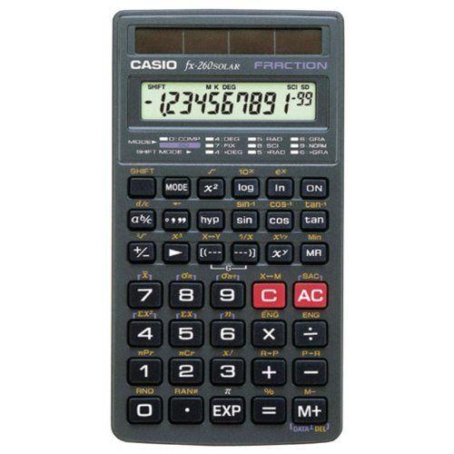 Calculator casio fx260slrsc scientific calculator (fx260slrsc.
