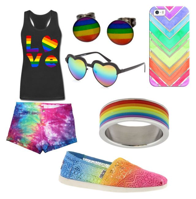 """""""#Lovewins<3"""" by kenr5 ❤ liked on Polyvore featuring Full Tilt, Casetify and Skechers"""