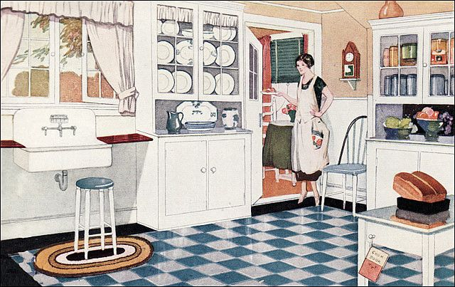 1925 Kitchen Ad For Valspar Paint Early 1900s Kitchens