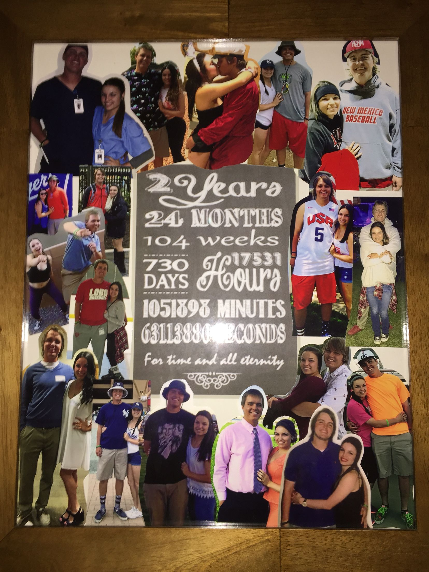 2 year anniversary collage DIY Pinterest